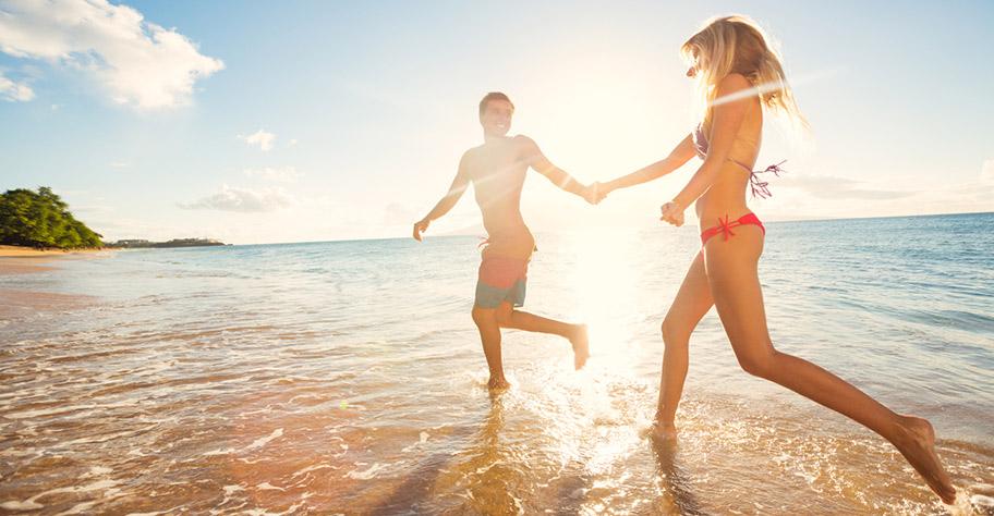 Honeymoon Paar La Reunion Strand