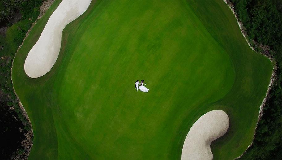 Mauritis Golfhotels, Golfplatz aus der Luft